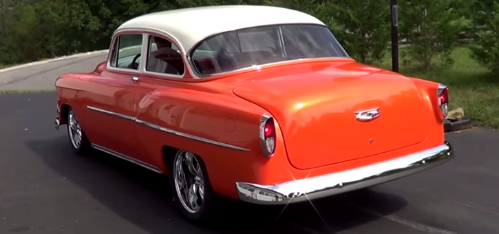 1954 chevy two door post car street rod