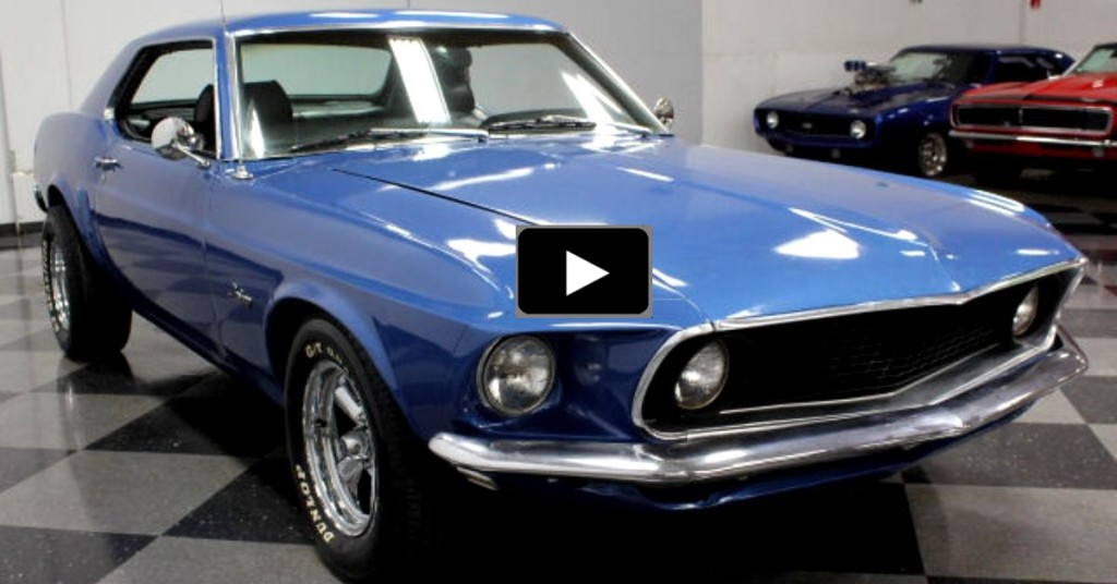 HANDSOME 1969 FORD MUSTANG COUPE 350 V8 | HOT CARS1969 Mustang Coupe Blue