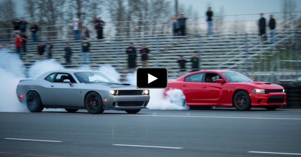 Charger Vs Challenger 1400hp Hellcat Battle Hot Cars