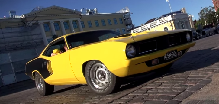 plymouth cuda 440 muscle car