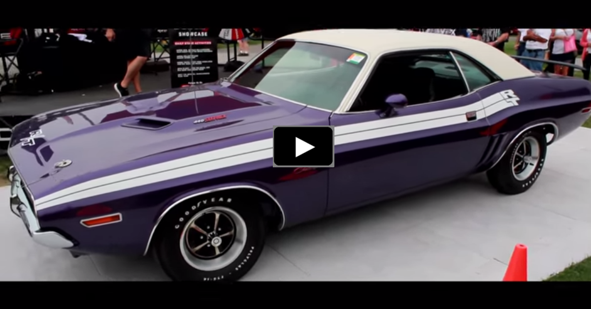 restored 1971 dodge challenger rt 440 six pack