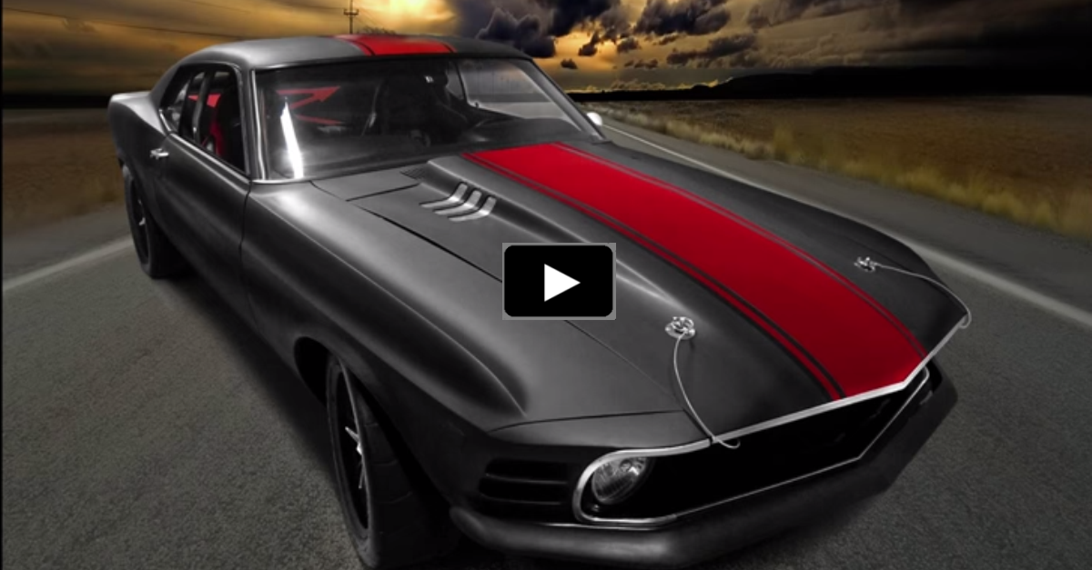 """SINISTER 1970 FORD MUSTANG COBRA JET """"MADD MAXX"""" 