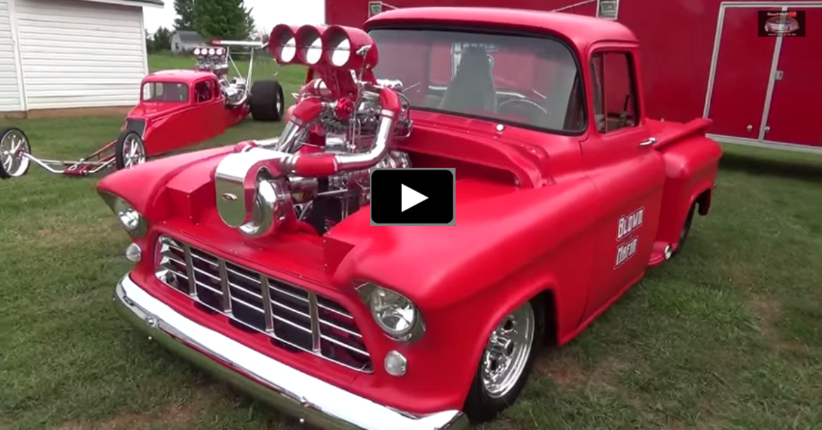 blown mafia chevy pick up truck