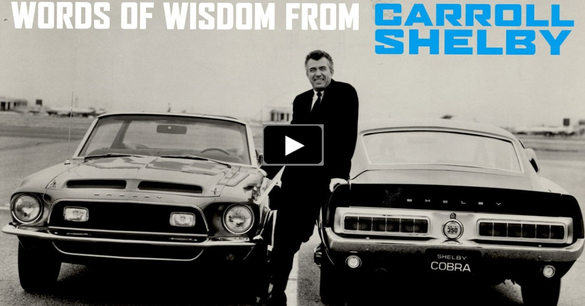 carroll shelby on king of the road mustangs