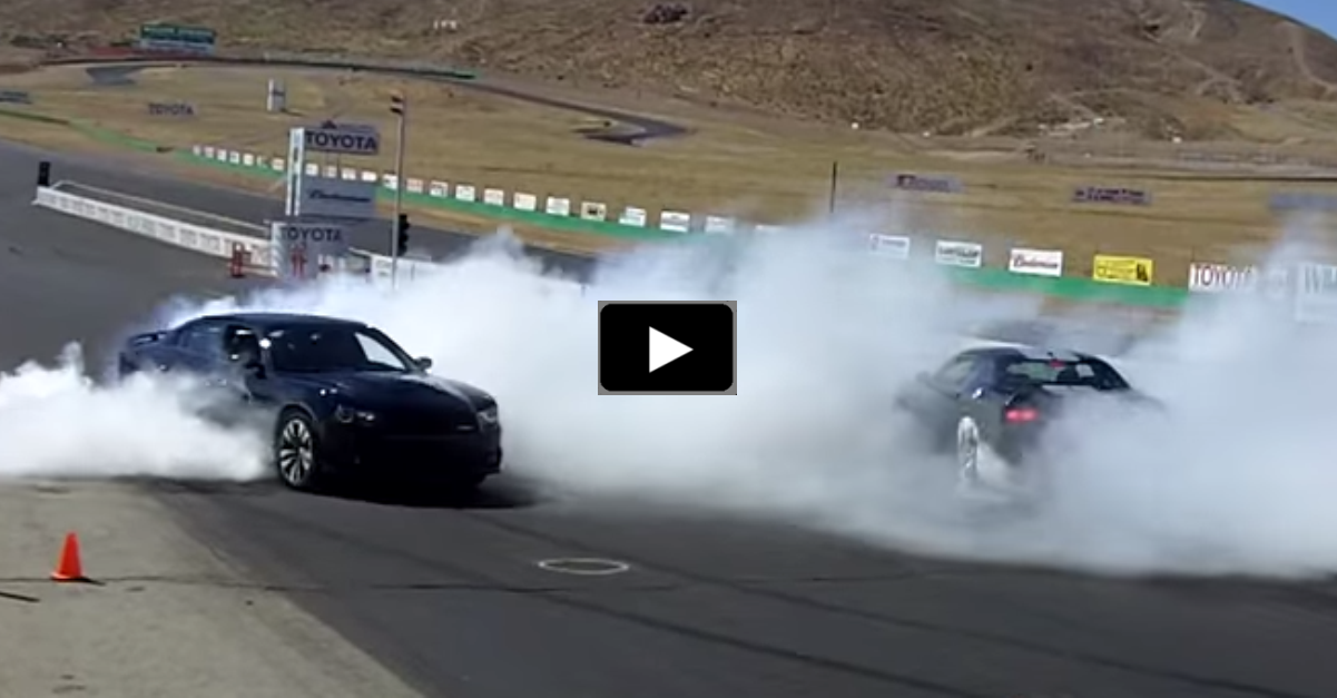 dodge charger vs dodge challenger burnout