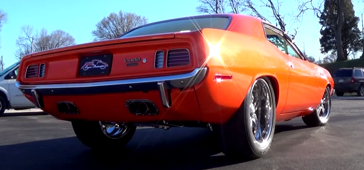 pro touring hemi cuda muscle car