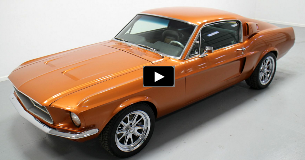 restored ford mustang muscle car