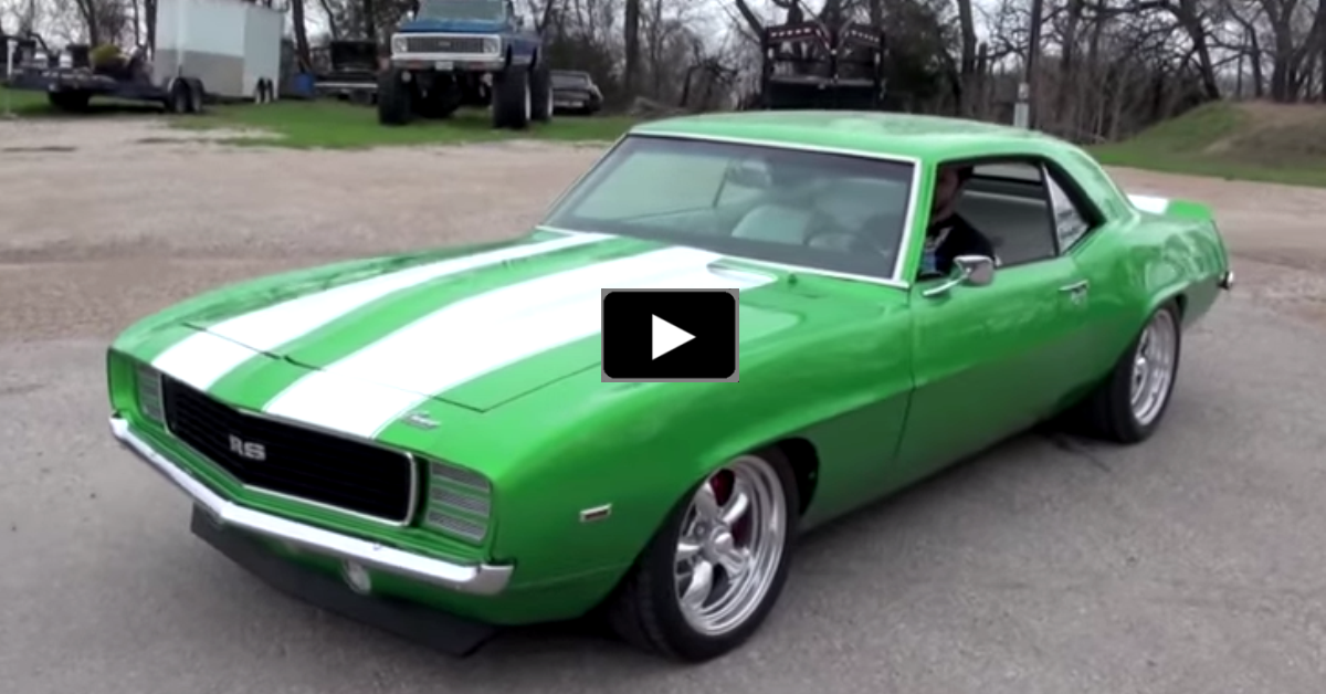 restored chevy camaro muscle car
