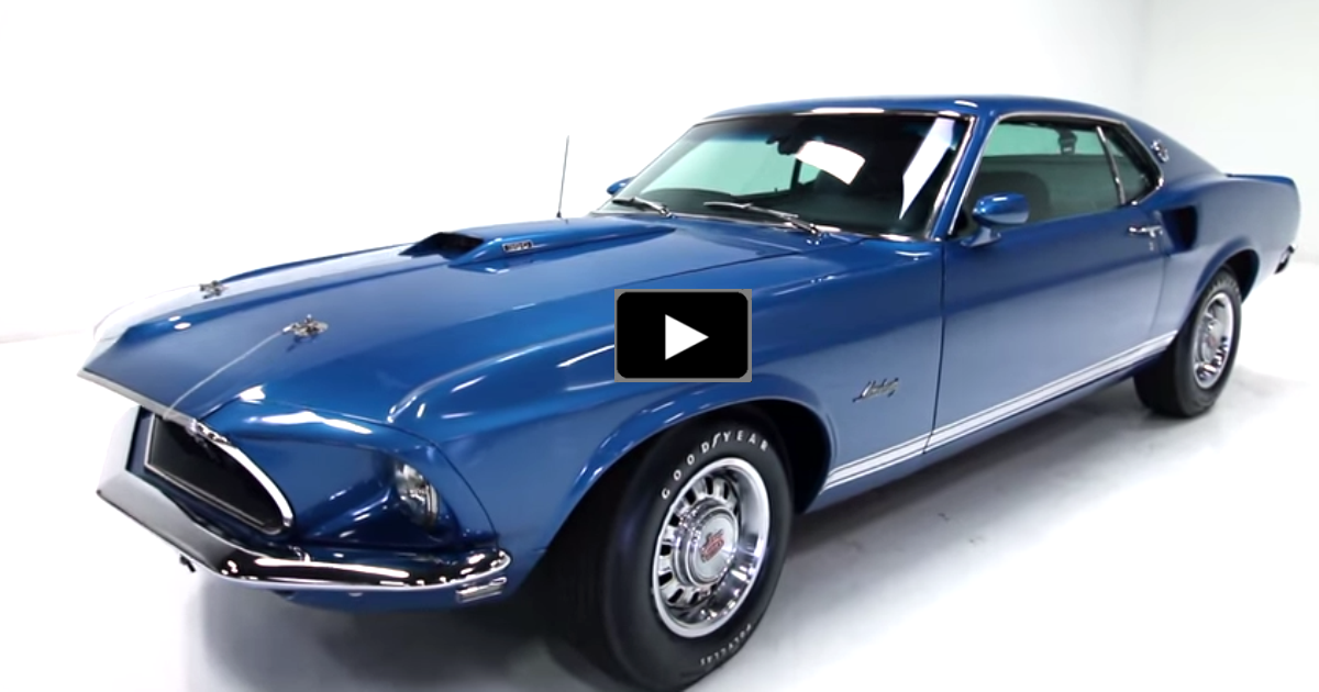 1969 ford mustang gt muscle car