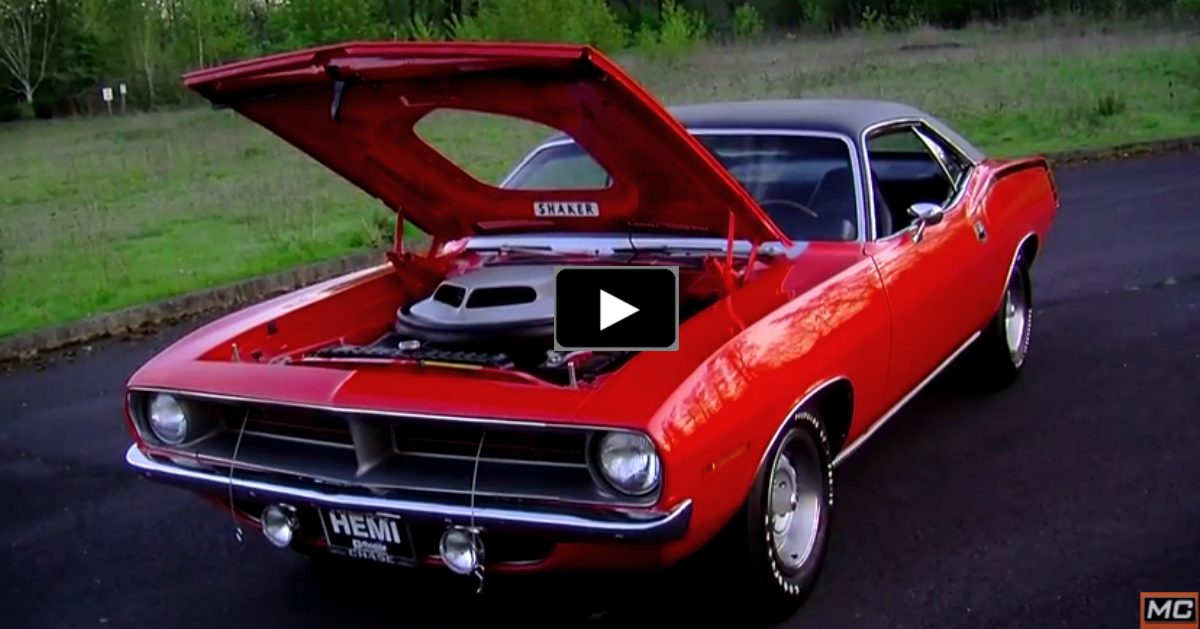 plymouth hemi cuda muscle car on hot cars