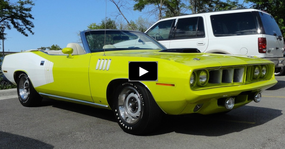 convertible hemi cuda on hot cars