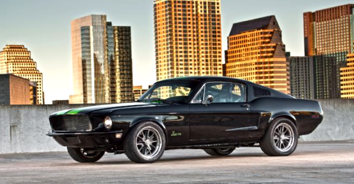electric ford mustang muscle car