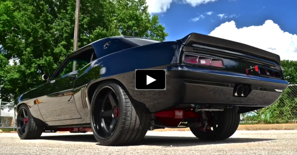 SINISTER PHANTOM BLACK 1969 CHEVY CAMARO CUSTOM | HOT CARS