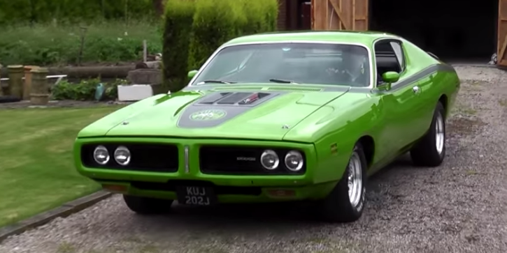 dodge charger muscle car on hot cars