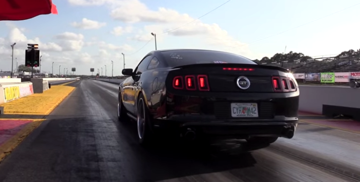twin turbo ford mustang muscle car
