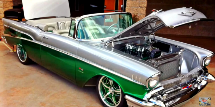 custom 1957 chevy bel air convertible on hot cars