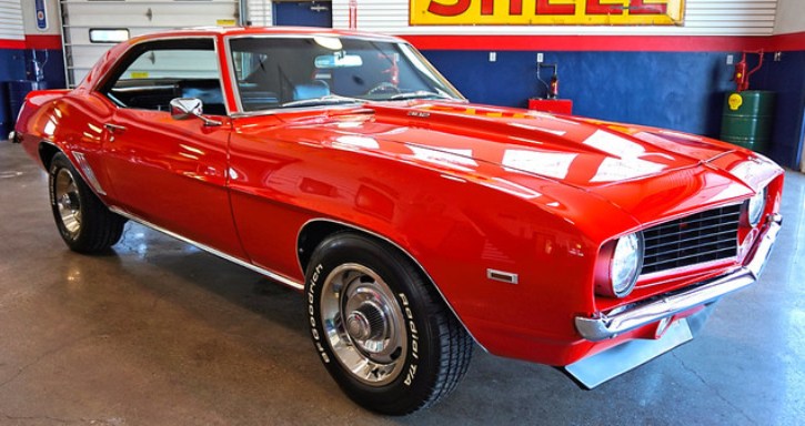 torch red 1969 chevy camaro on hot cars