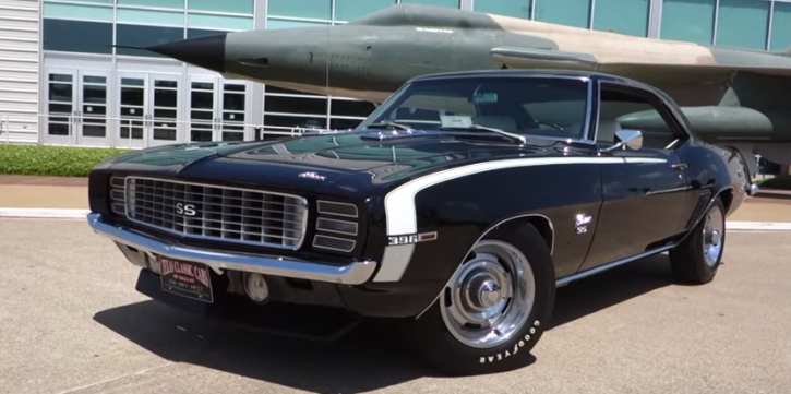 l89 optioned 1969 chevy camaro ss muscle car