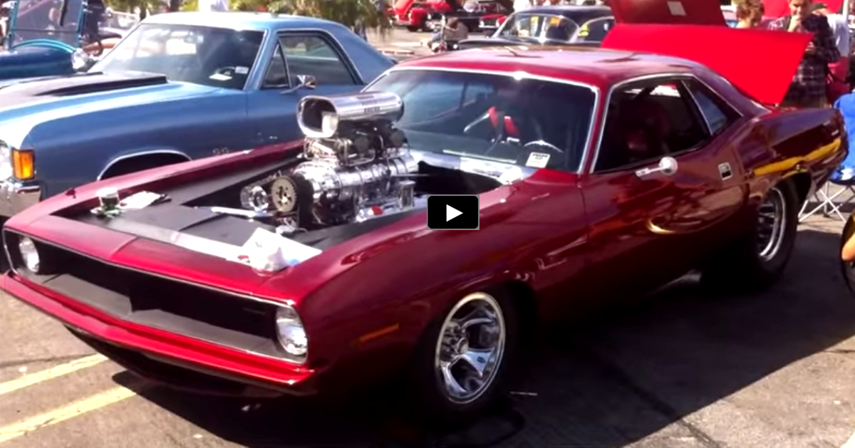 1000hp plymouth hemi barracuda musclecar