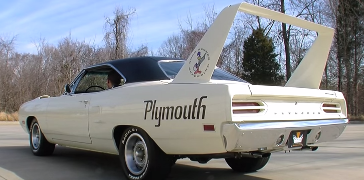 restored plymouth road runner superbird muscle car