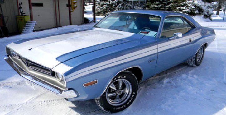 restored 1971 dodge challenger on hot cars
