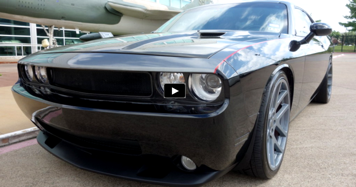 carbon fiber dodge challenger srt8 on hot cars