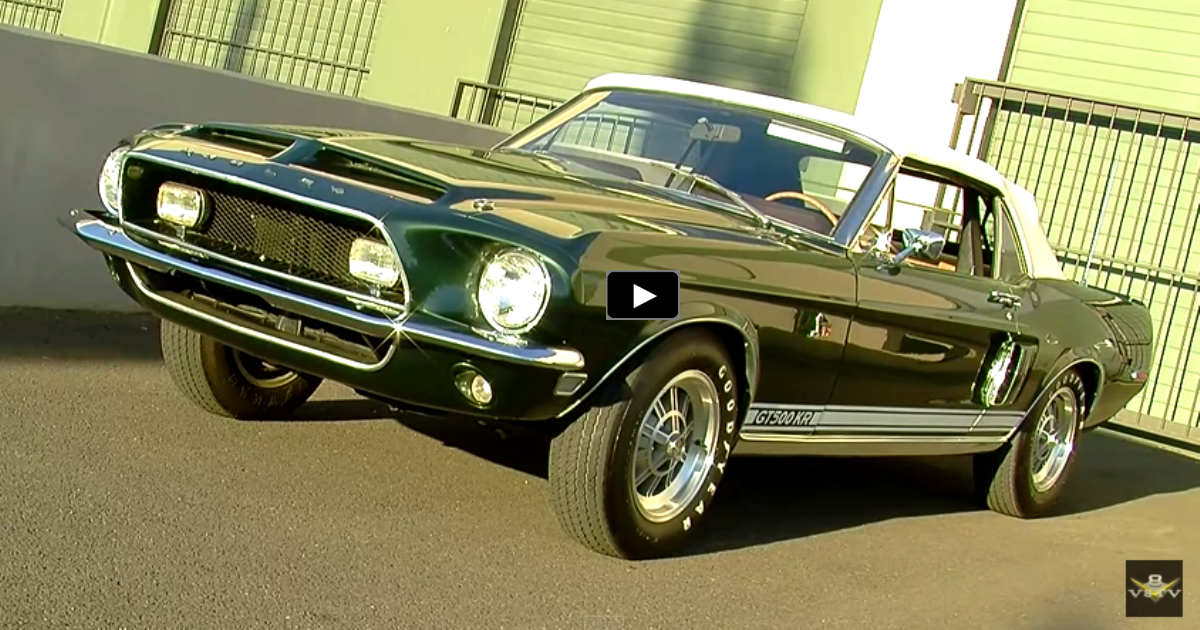 convertible 1968 mustang shelby gt500 kr