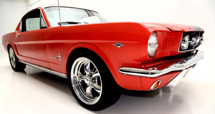 torch red 1965 ford mustang fastback on hot cars