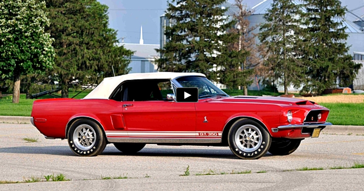 1968 ford mustang shelby gt350 convertible on hot cars