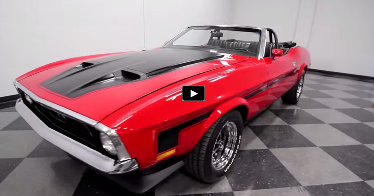 red 1971 ford mustang convertible on hot cars
