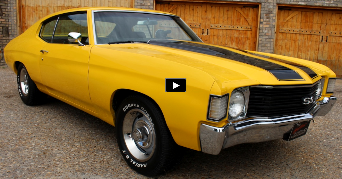 yellow 1972 chevy chevelle ss 350 on hot cars