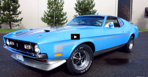 grabber blue 1971 mustang mach 1 review and test drive