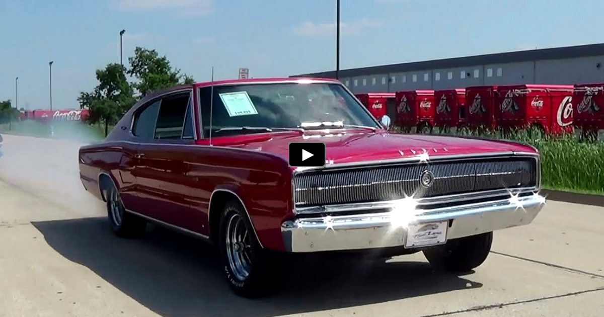 red 1966 dodge charger 426 hemi review & test drive
