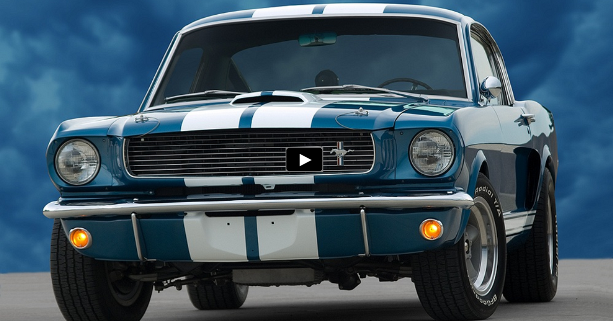 sapphire blue 1966 mustang shelby gt350 on hot cars