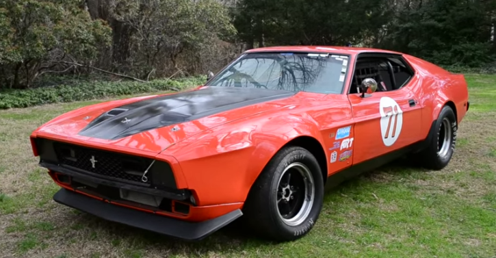 1971 ford mustang mach 1 boss 351 race car