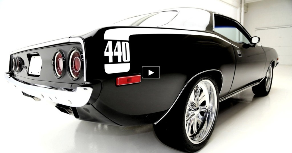black 1973 plymouth cuda 440 on hot cars