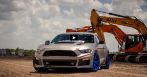 custom roush performance 2015 ford mustang on vossen wheels