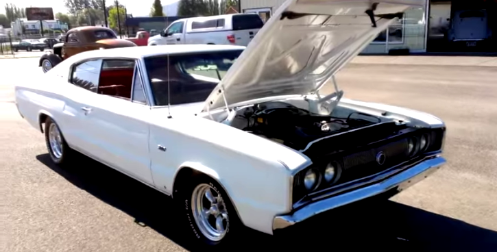 restored 1966 dodge charger big block in white