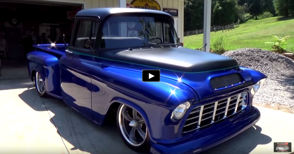 a must see custom 1955 chevy pick up truck hot cars. Black Bedroom Furniture Sets. Home Design Ideas