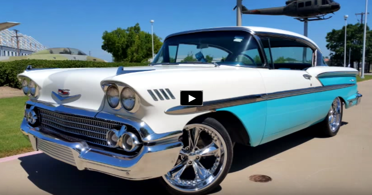 restored 1958 chevy bel air 350 custom