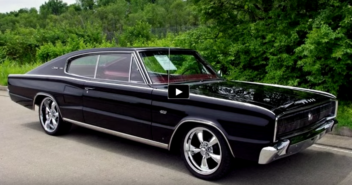 black 1966 dodge hemi charger fastback review