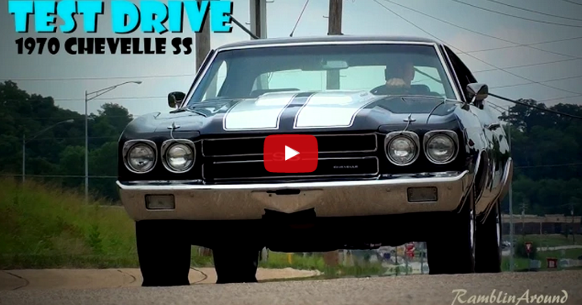 restored 1970 chevy chevelle ss 396 test drive