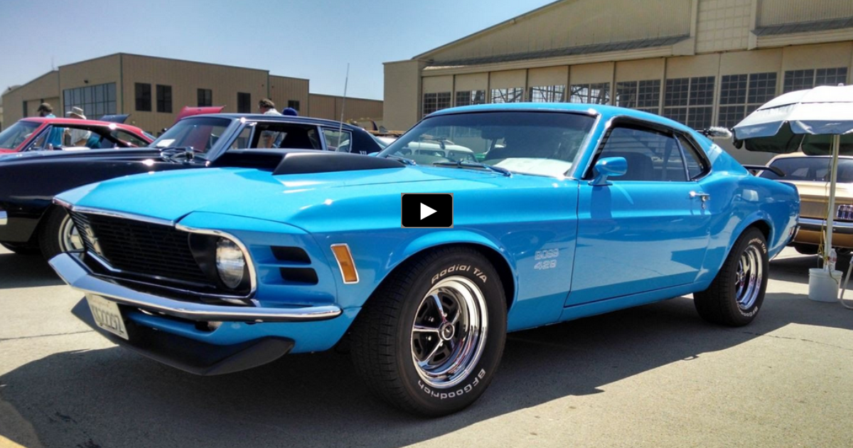 grabber blue 1970 ford mustang boss 429 restored to original