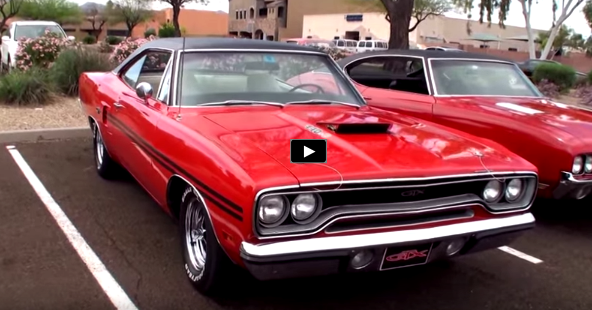red 1970 plymouth gtx 440 six barrel