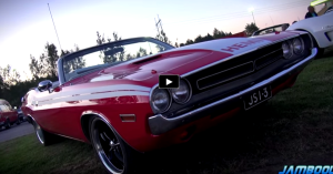 1971 dodge hemi challenger convertible burnouts