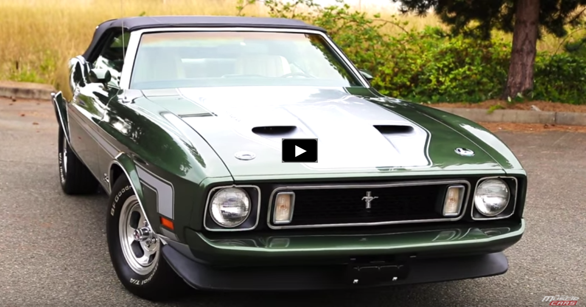 1973 ford mustang convertible review & test drive