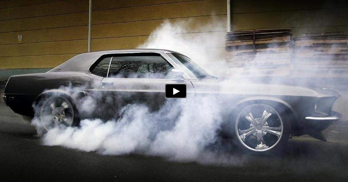 2015 mustang week burnout contest video
