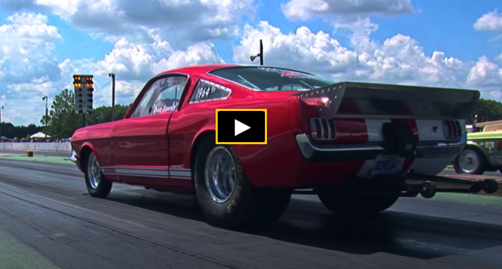 wheelstanding small block stick shift mustang