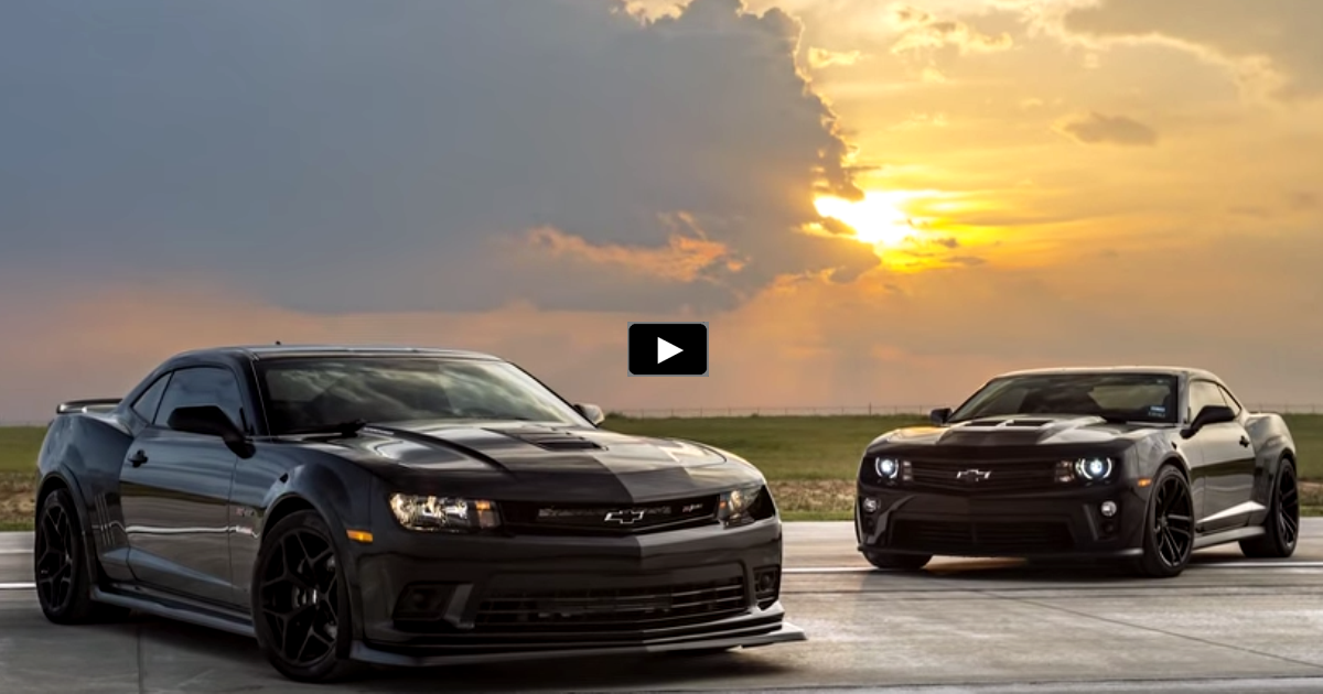 hennessey tuned chevy camaros drag race