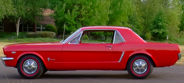 red 1965 ford mustang 289 k-code